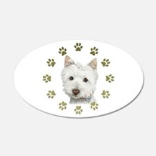 West Highland White and Paws Art Wall Decal