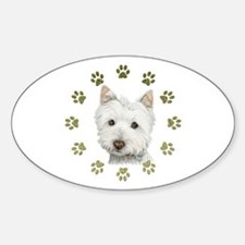 West Highland White and Paws Art Decal