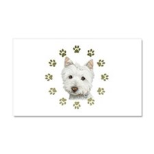 West Highland White and Paws Art Car Magnet 20 x 1