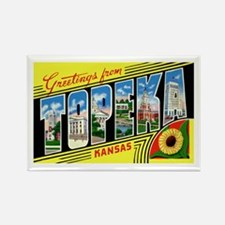 Topeka Kansas Greetings Rectangle Magnet