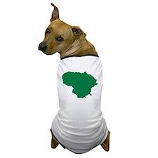 Lithuania map Dog T-Shirt