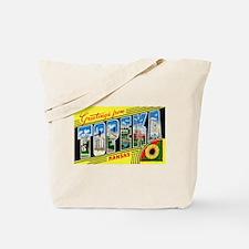 Topeka Kansas Greetings Tote Bag