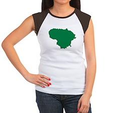 Lithuania map Women's Cap Sleeve T-Shirt