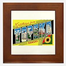 Topeka Kansas Greetings Framed Tile