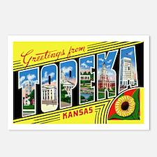 Topeka Kansas Greetings Postcards (Package of 8)