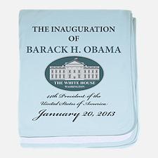 2013 Obama inauguration day baby blanket