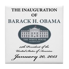 2013 Obama inauguration day Tile Coaster