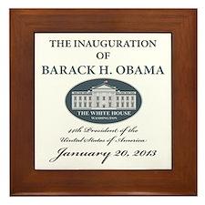 2013 Obama inauguration day Framed Tile