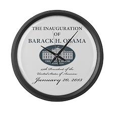 2013 Obama inauguration day Large Wall Clock