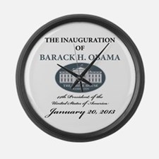 2013 Obama inauguration day Large Wall Clock