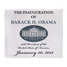2013 Obama inauguration day Throw Blanket