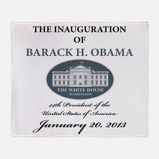 2013 Obama inauguration day Throw Blanket