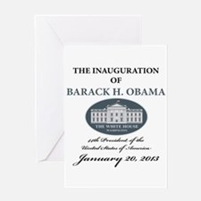 2013 Obama inauguration day Greeting Card