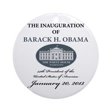 2013 Obama inauguration day Ornament (Round)