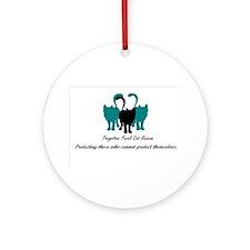 Forgotten Feral Cat Rescue Ornament (Round)