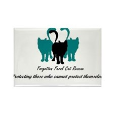 Forgotten Feral Cat Rescue Rectangle Magnet