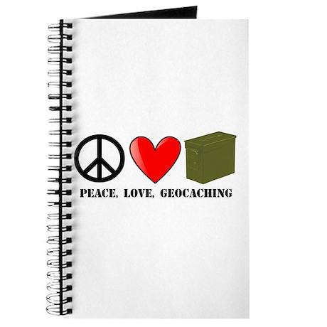 Peace, Love, Geocaching Journal