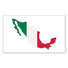Mexico map flag Decal