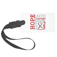 Brain Cancer Hope Courage Luggage Tag