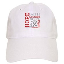 Brain Cancer Hope Courage Baseball Cap
