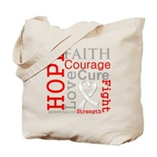 Bone Cancer Hope Courage Tote Bag