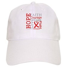 Blood Cancer Hope Courage Baseball Cap