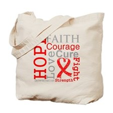 Blood Cancer Hope Courage Tote Bag