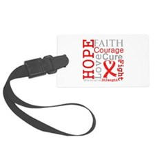 Blood Cancer Hope Courage Luggage Tag