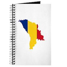 Moldova map flag Journal