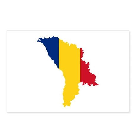 Moldova map flag Postcards (Package of 8)