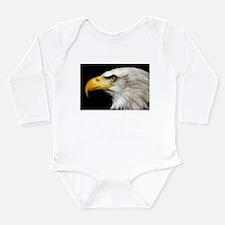 American Bald Eagle Long Sleeve Infant Bodysuit