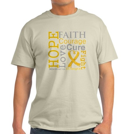 Appendix Cancer Hope Courage Light T-Shirt