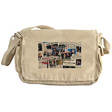 Obama Wins 2012 Newspaper Messenger Bag