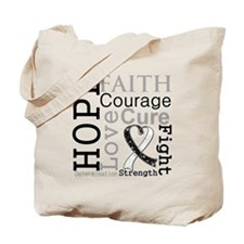 Carcinoid Cancer Hope Courage Tote Bag