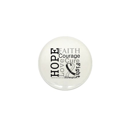 Carcinoid Cancer Hope Courage Mini Button (10 pack