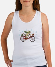 Dog and Squirrel Holiday Women's Tank Top