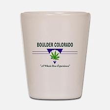 Boulder Colorado Marijuana Shot Glass
