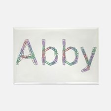 Abby Paper Clips Rectangle Magnet