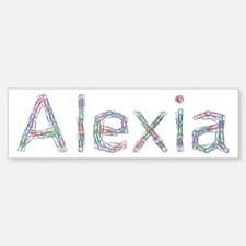 Alexia Paper Clips Bumper Car Car Sticker