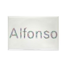 Alfonso Paper Clips Rectangle Magnet