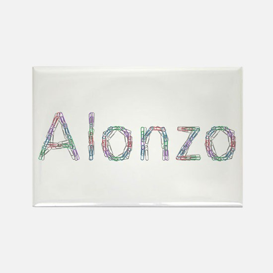 Alonzo Paper Clips Rectangle Magnet