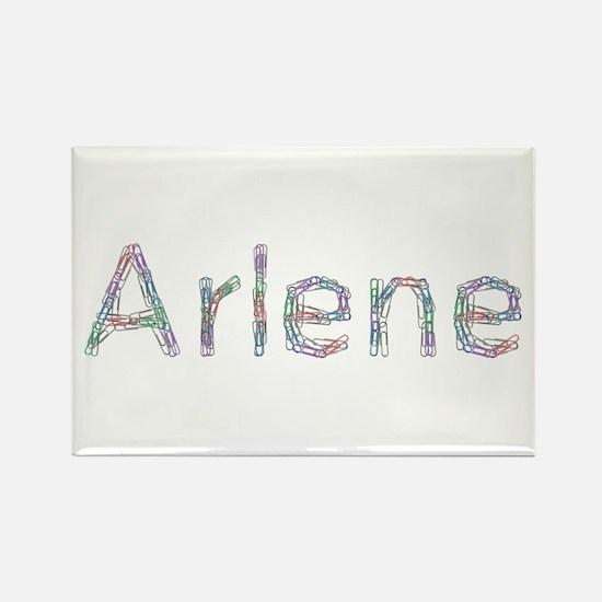 Arlene Paper Clips Rectangle Magnet