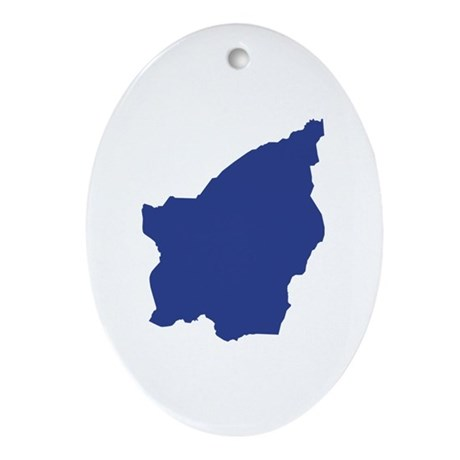 San Marino map Ornament (Oval)