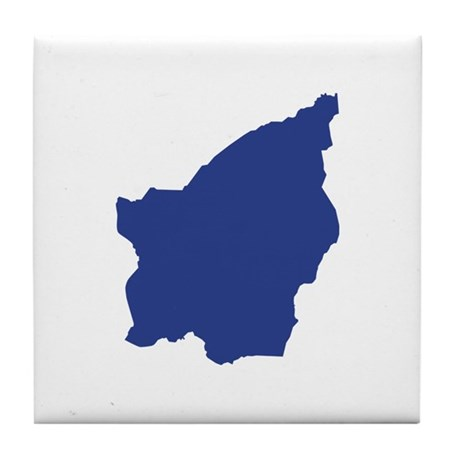 San Marino map Tile Coaster