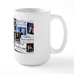 Obama Wins 2012 Newspaper Large Mug