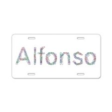 Alfonso Paper Clips Aluminum License Plate