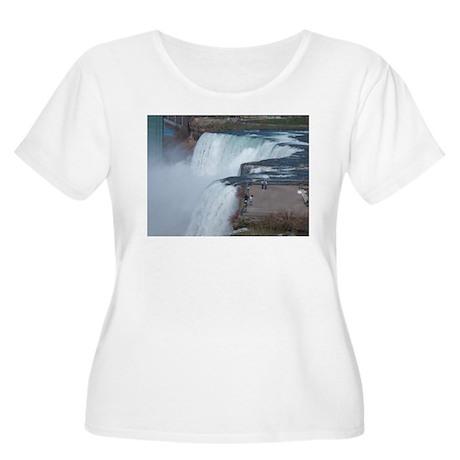 Niagara Falls, NY Women's Plus Size Scoop Neck T-S