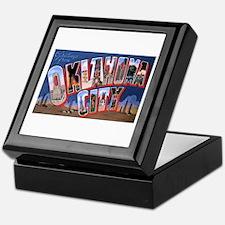 Oklahoma City Oklahoma Keepsake Box