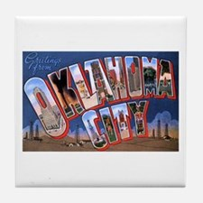 Oklahoma City Oklahoma Tile Coaster