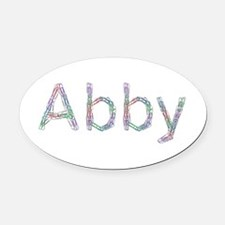 Abby Paper Clips Oval Car Magnet